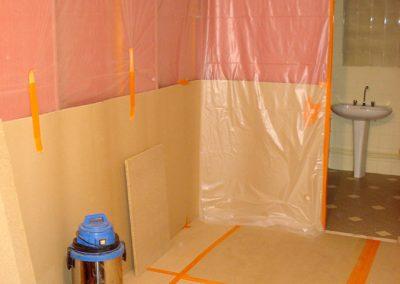 Salle de bains avant les travaux, suite
