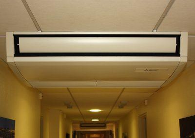 climatisation d'une circulation dans un EPAD - installation d'une climatisation avec protection anti-vandalisme - Entreprise Marin