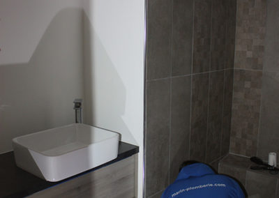 Finition d'une salle de bain ouverte